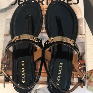 Women's Black COACH Sandals size 8